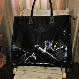 Vintage Gucci Patent Leather Shoppers Tote
